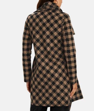The Equalizer Melody Chu Houndstooth Coat