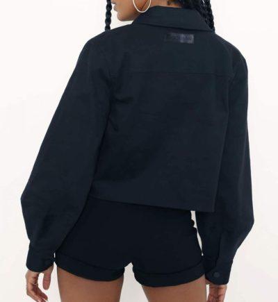 Women Black Crop Jacket