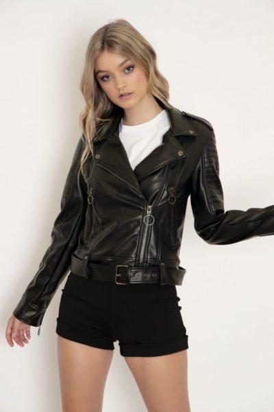 Women Black Moto Jacket
