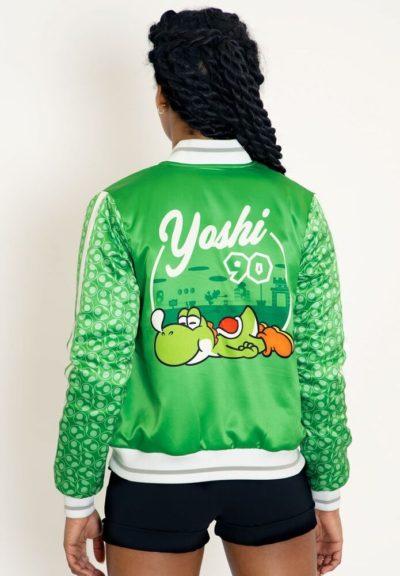 Yoshi Shiny Bomber Green Jacket