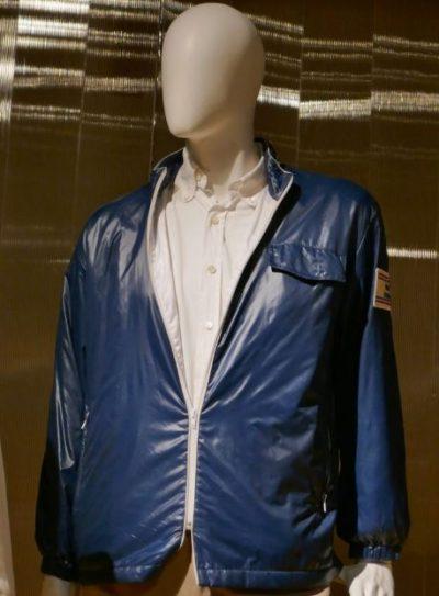 carroll shelby american team blue letaher jacket