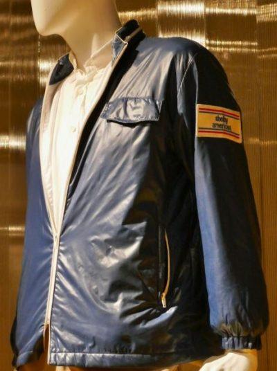 ford v. ferrari carroll shelby american team blue letaher jacket