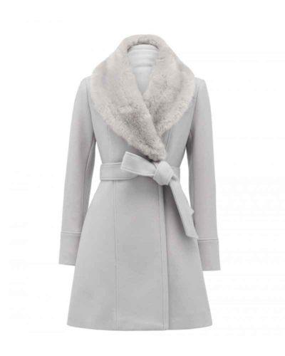 nancy drew maddison jaizani white fur collar coat