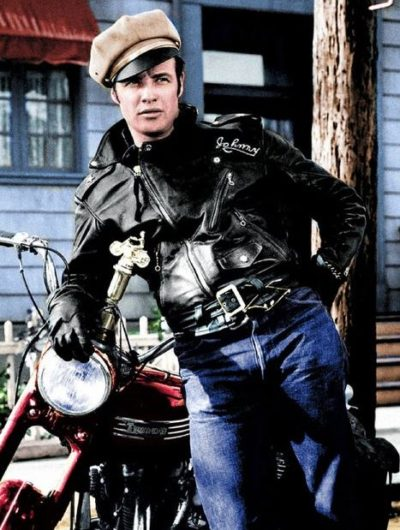 the wild one johnny strabler brmc leather jacket