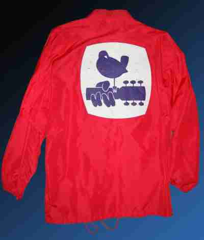 1969 woodstock red security cotton jacket