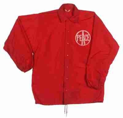1969 woodstock red security jacket