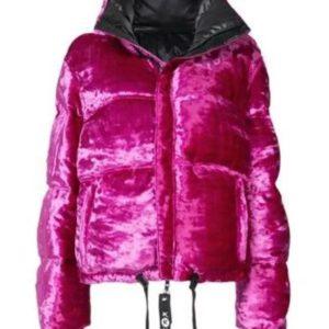Ariana Grande 7 Rings Pink Puffer Coat