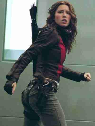 Blade Trinity Jessica Biel Leather Jacket