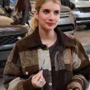Emma Roberts Holidate Sloane Brown Jacket