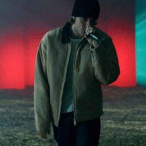 Justin Bieber Hold On Suede Leather Jacket