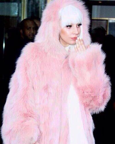 Lady Gaga Faux Fur Coat
