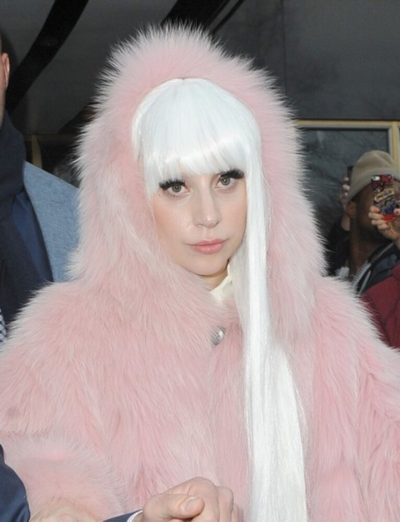 Lady Gaga Faux Long Coat