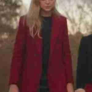 Legacies S03 Lizzie Saltzman Double-Breasted Red Coat