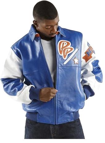 Pelle Pelle Soda Club Blue Leather Jacket