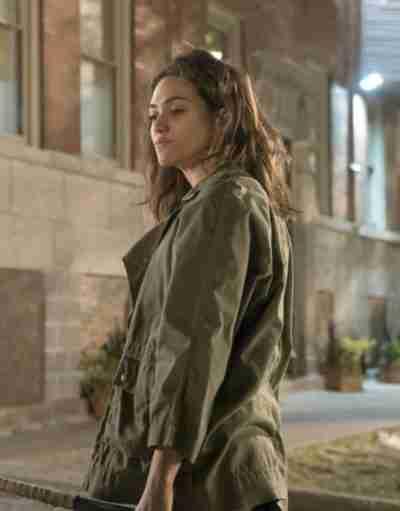 Shameless Emmy Rossum Brown Jacket