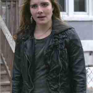 Shameless Sandy's Hooded Leather Biker Jacket