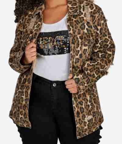 Star Queen Latifah Leopard Print Jacket