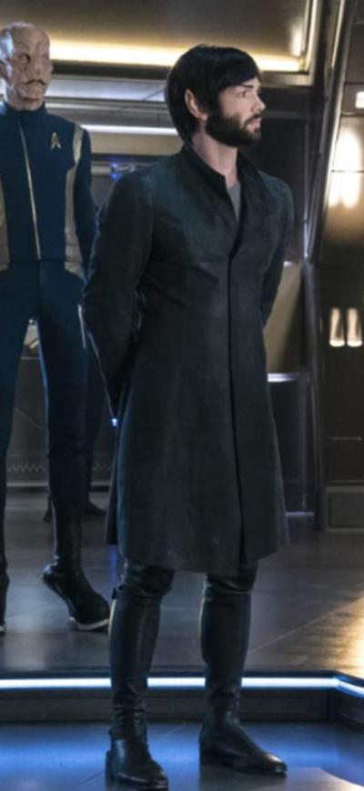 Star Trek Discovery Ethan Peck Black Trench Coat