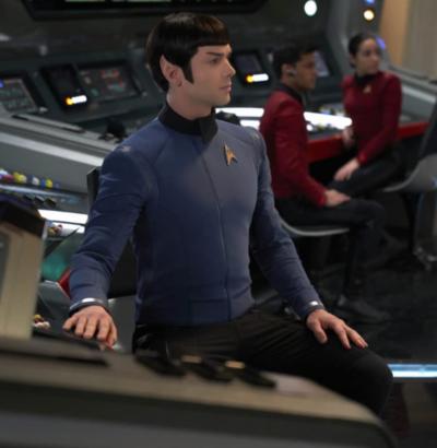 Star Trek Discovery Ethan Peck Blue Jacket