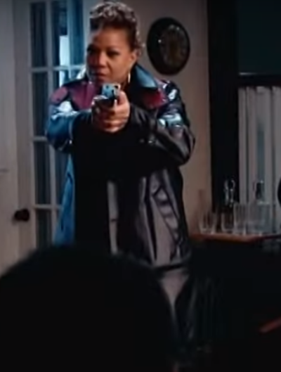 The Equalizer Queen Latifah Leather Coat
