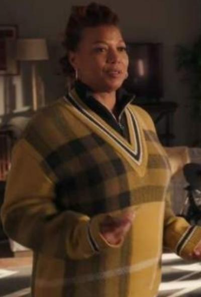 The Equalizer Robin McCall V Neck Tartan Sweater