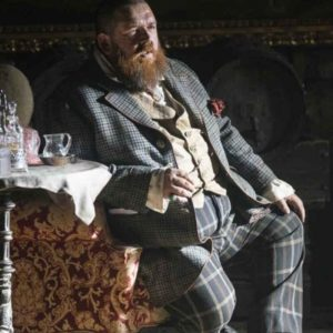 The Nevers Nick Frost Checkered Coat