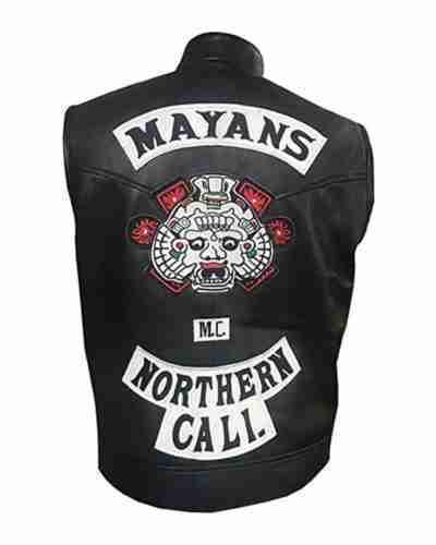 angel reyes mayans m.c. southern cali clayton cardenas leather vest