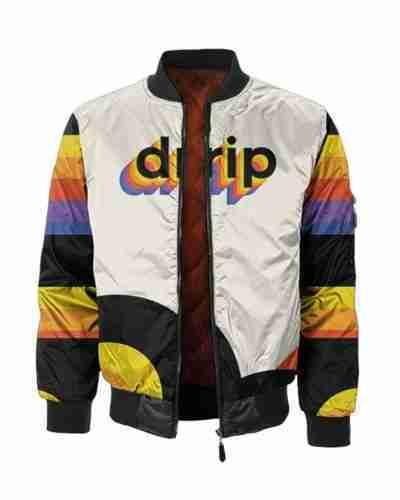 drip multicolor bomber jacket