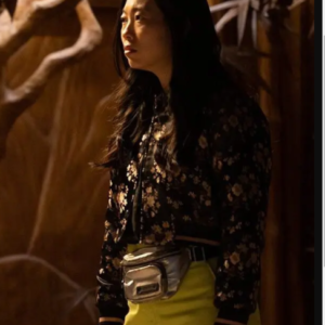 katy shang-chi and the legend of the ten rings awkwafina crop bomber jacket