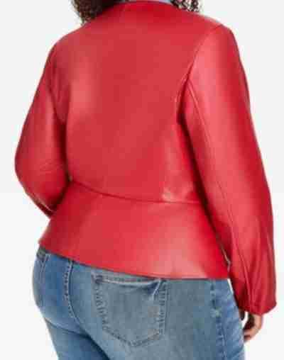 star season 2 queen latifah red ruffle leather jacket