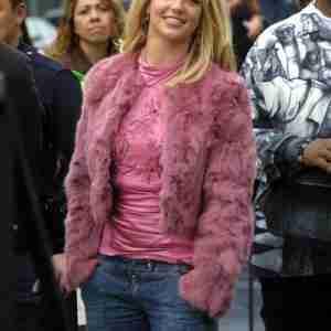 Britney Spears Pink Coat