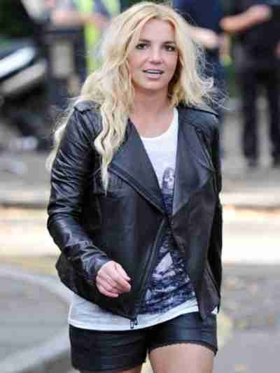 Britney Spears Quilted Design Jacket