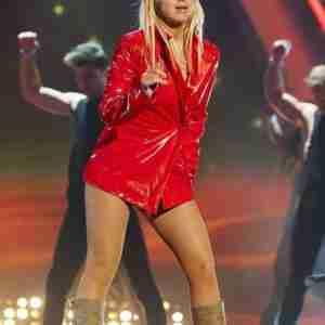 Britney Spears Red Shiny Jacket