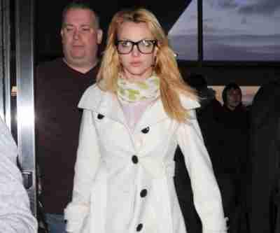 Britney Spears White Coat