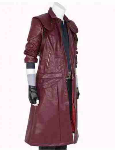 DMC 5 Maroon Dante Coat