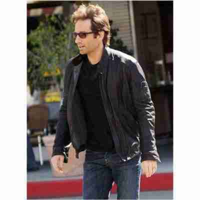 David Duchovny Californication Hank Moody Leather Jacket