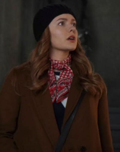 Nancy Drew Kennedy McMann Brown Coat