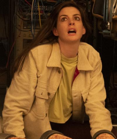 Zleah Solos Tv Series Anne Hathaway White Corduroy Jacket