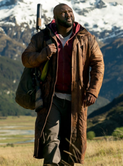 tommy jepperd sweet tooth nonso anozie brown leather coat