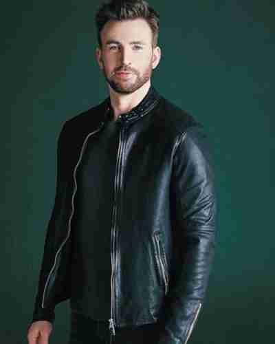 chris evans live smarter for a better world jacket
