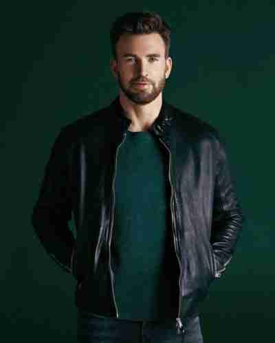 chris evans live smarter for a better world leather jacket