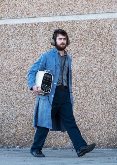 craig miracle workers daniel radcliffe blue denim coat