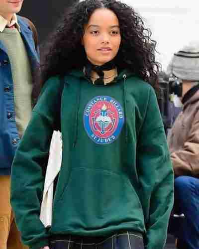 gossip girl whitney peak green hoodie
