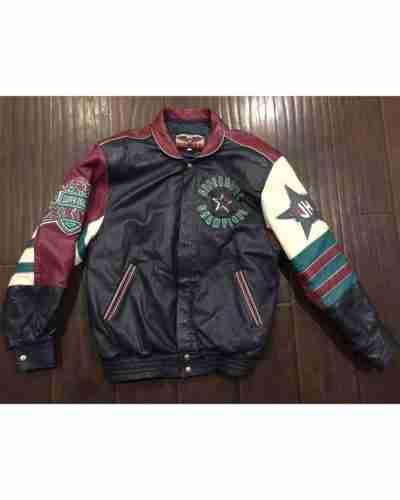 jeff hamlinton dallas cowboy bomber leather jacket