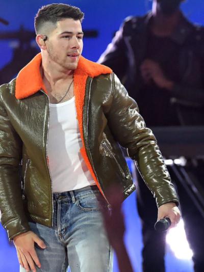 jonas brothers billboard music awards nick jonas leather jacket