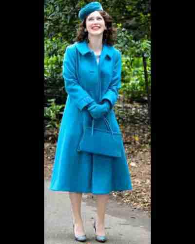 the marvelous mrs. maisel season 4 rachel brosnahan blue coat