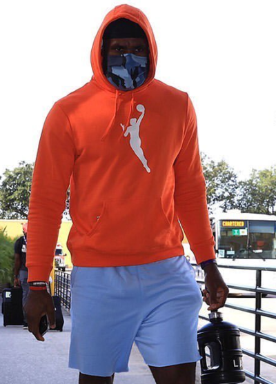 wnba orange pull over unisex hoodie