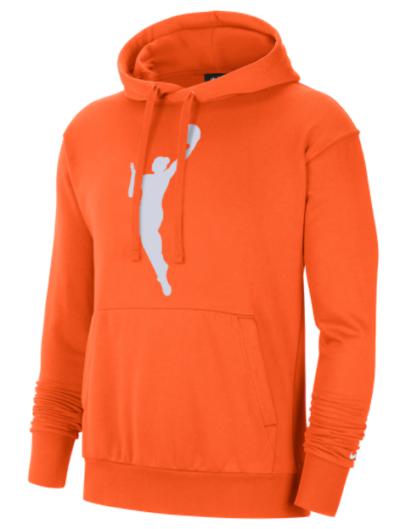 wnba orange unisex hoodie