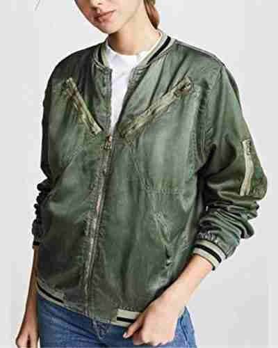 you victoria pedretti love quinn satin jacket