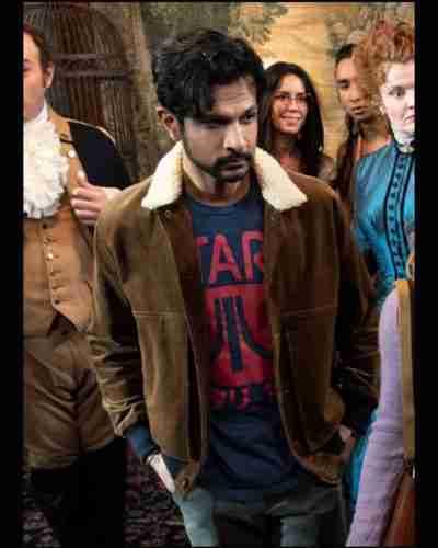ghosts utkarsh ambudkar brown jacket